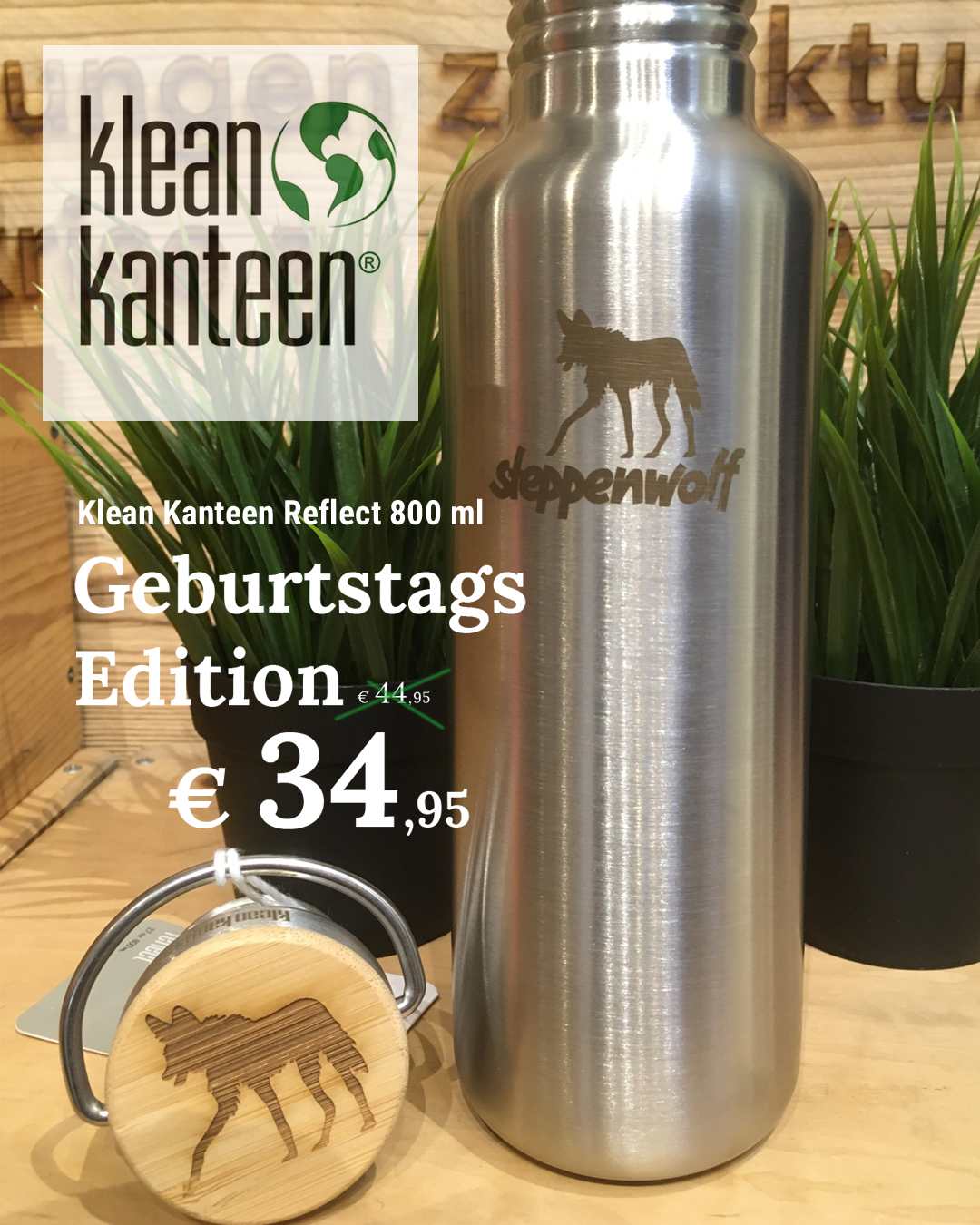 Klean Kanteen Reflect 800 ml Steppenwolf Edition
